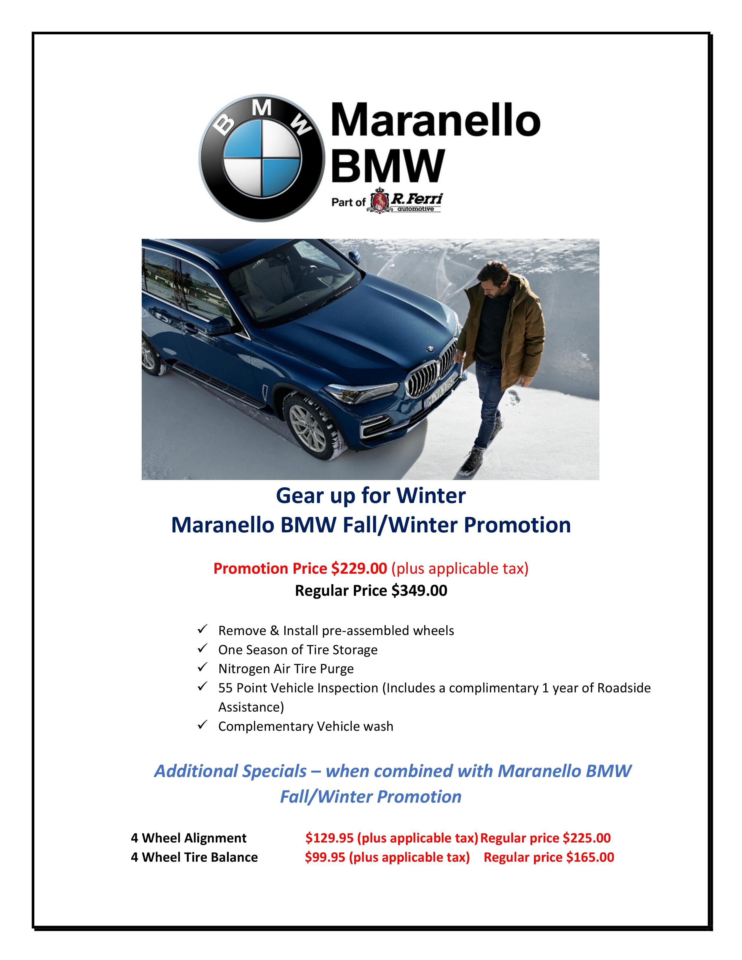 maranello bmw winter promo