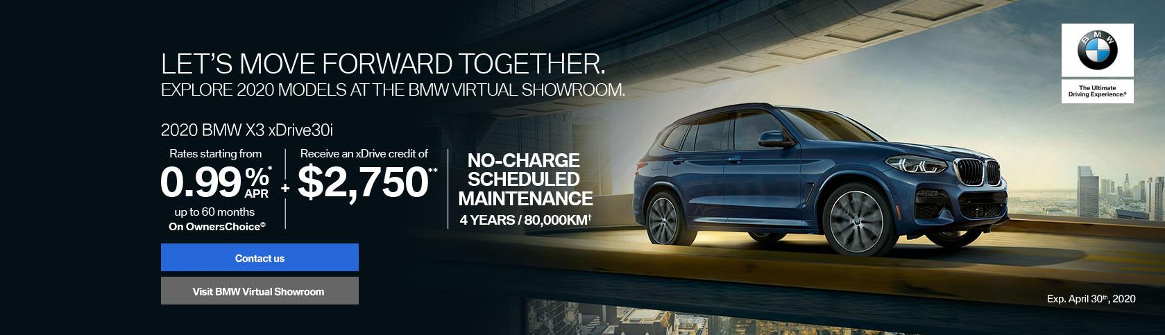 April - 2020 BMW X3 xXDrive30i
